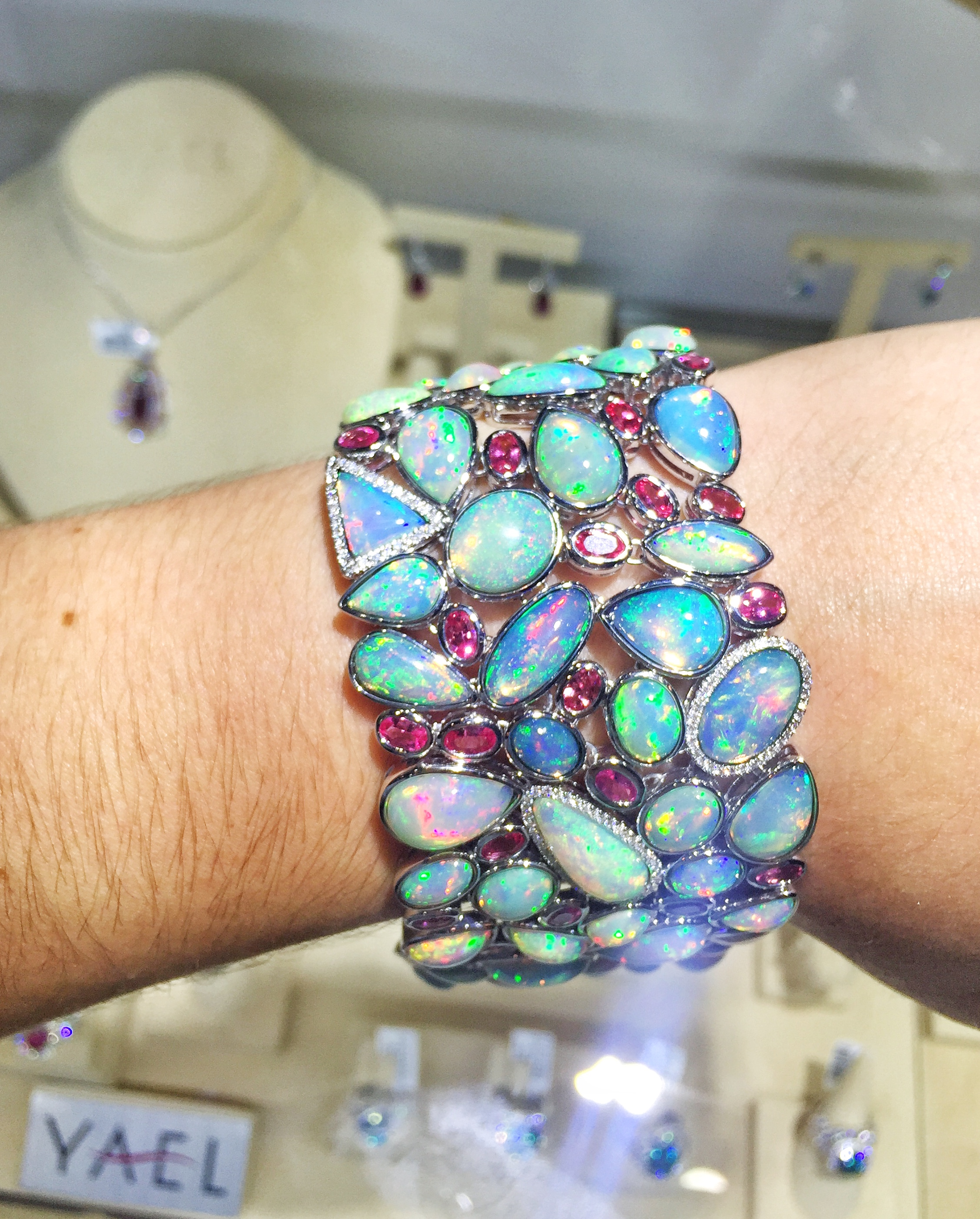 Yael Designs opal and spinel bracelet | JCK On Your Market