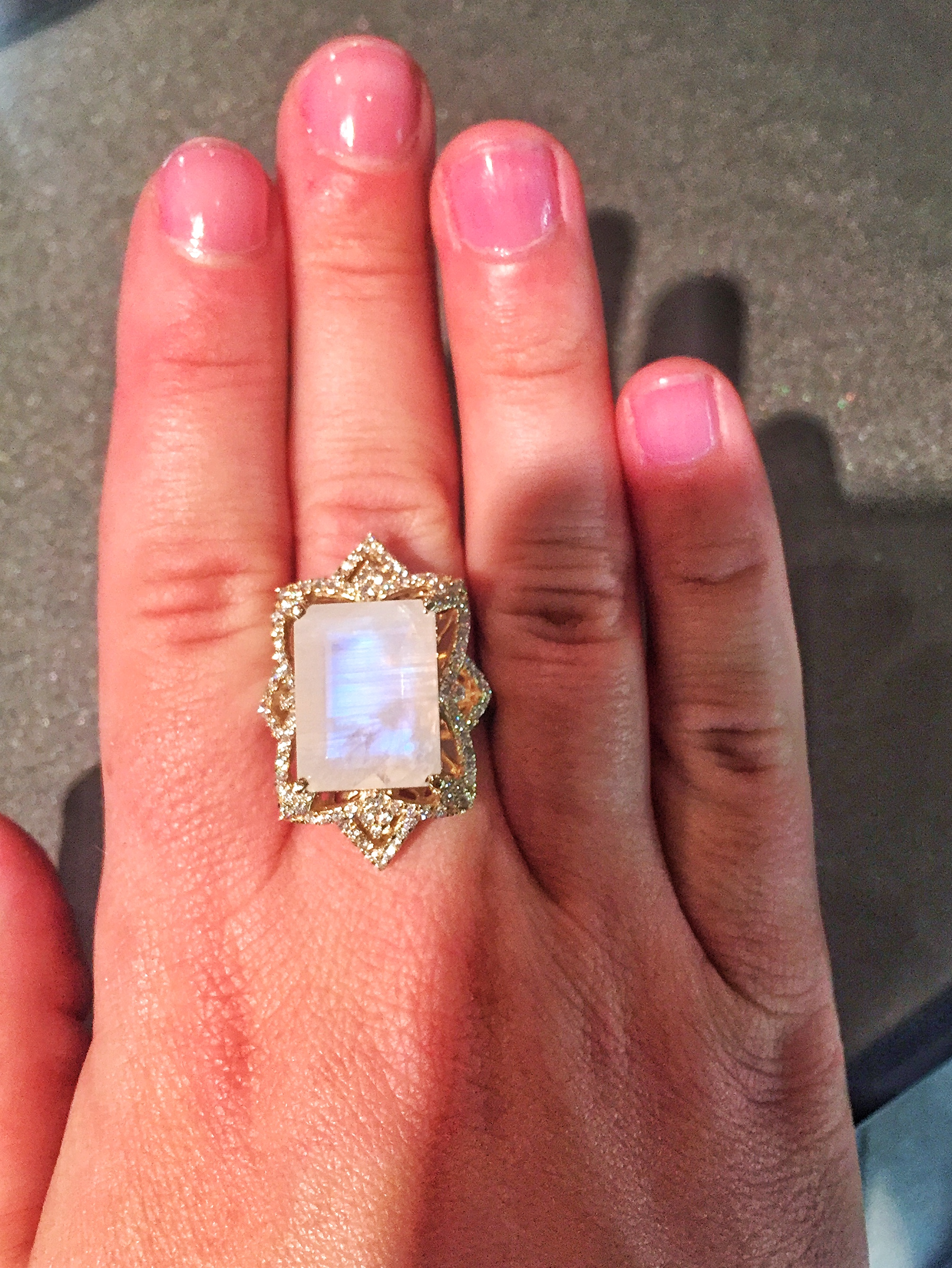 Arya Esha moonstone ring | JCK On Your Market
