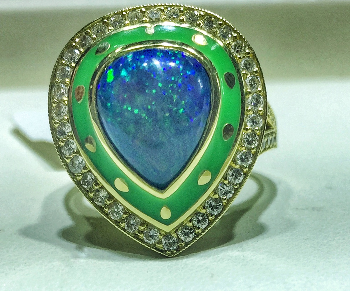 Lord Jewelry opal and enamel ring | JCK On Your Market