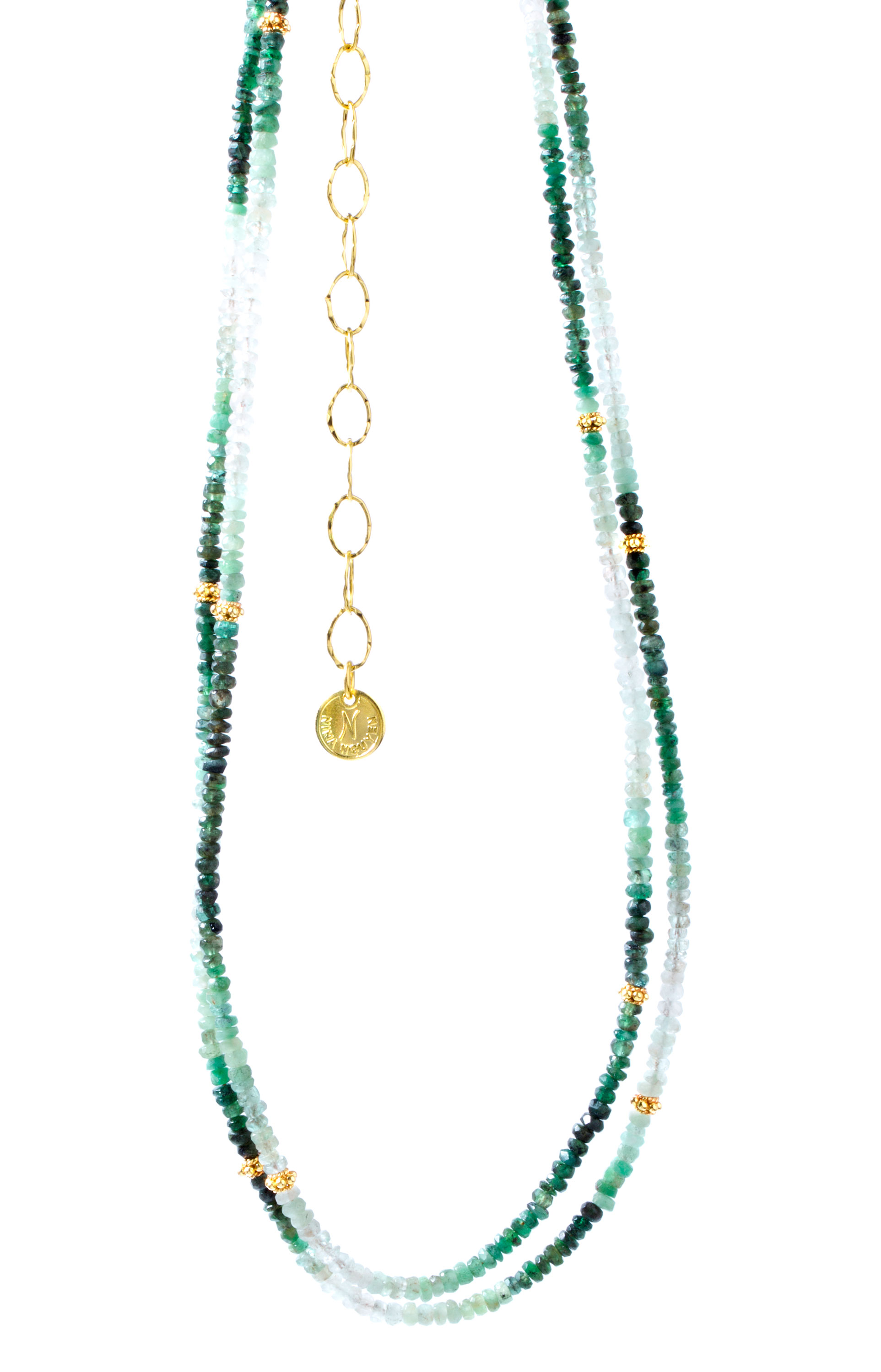 Nina Nguyen emerald Harmony necklace | JCK On Your Market