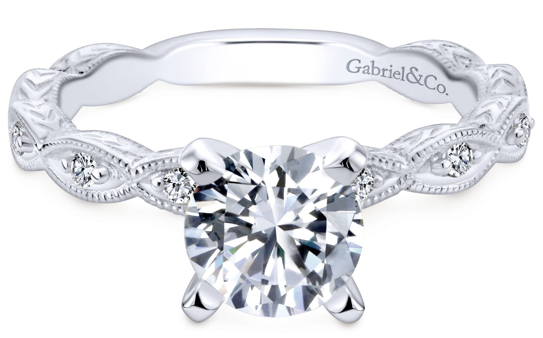 Gabriel and Co. Victorian engagement ring | JCK On Your Market