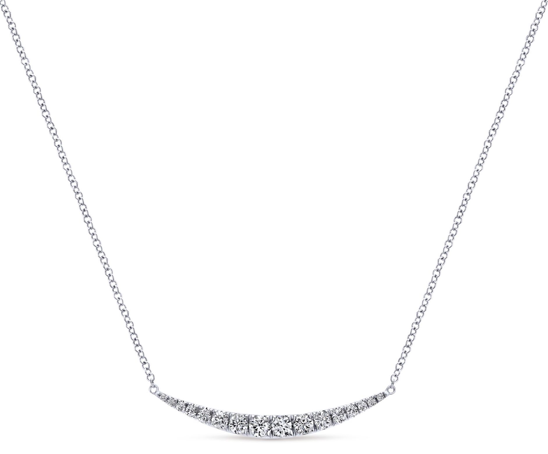 Gabriel and Co. diamond Indiulgence bar necklace | JCK On Your Market