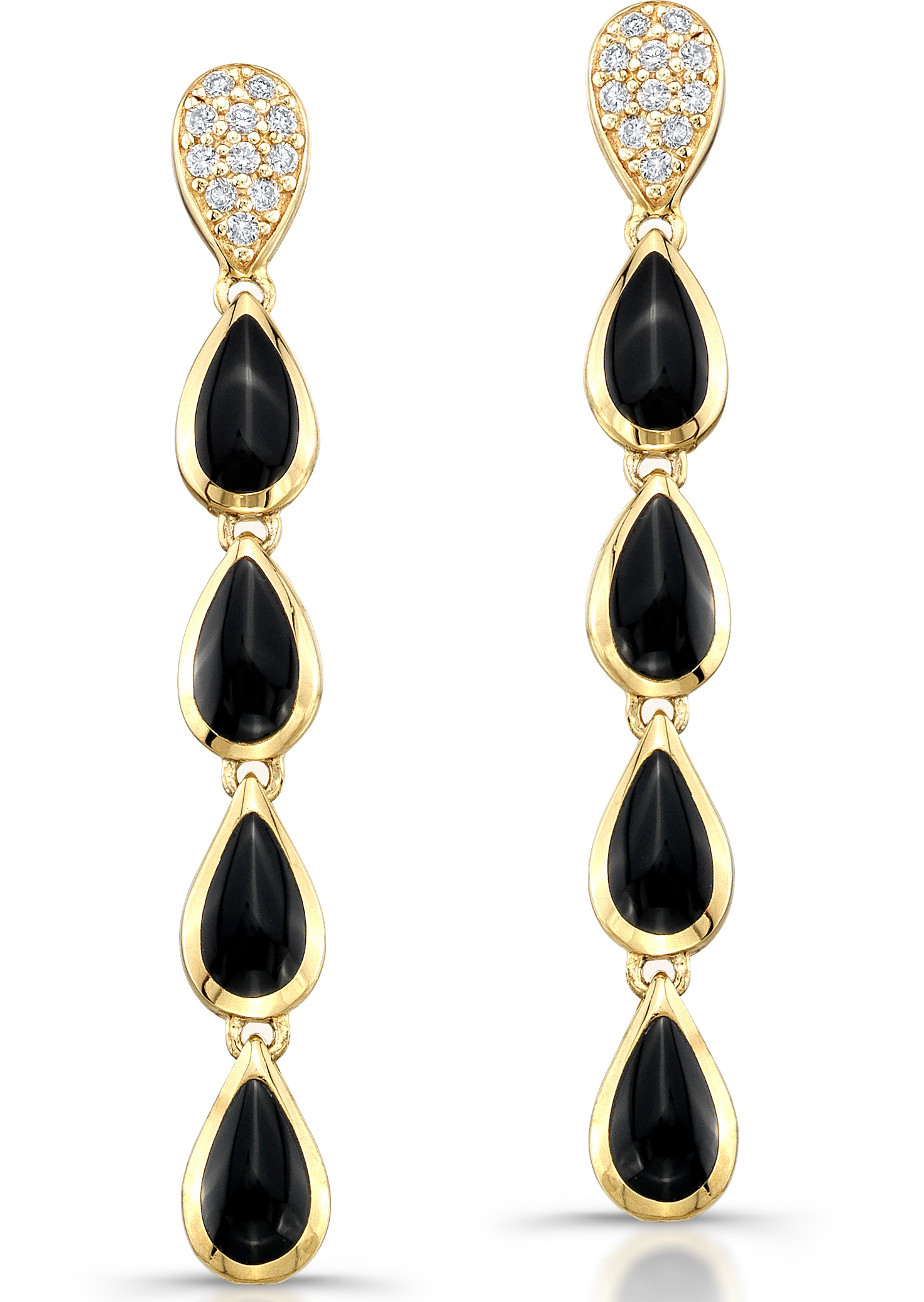 Kabana inlaid onyx drop earrings | JCK On Your Market