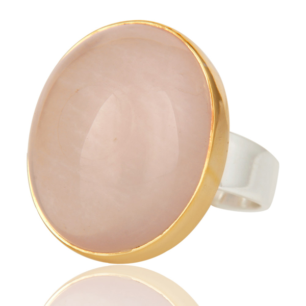 Geoffrey Scott Montauk rose chalcedony ring | JCK On Your Market