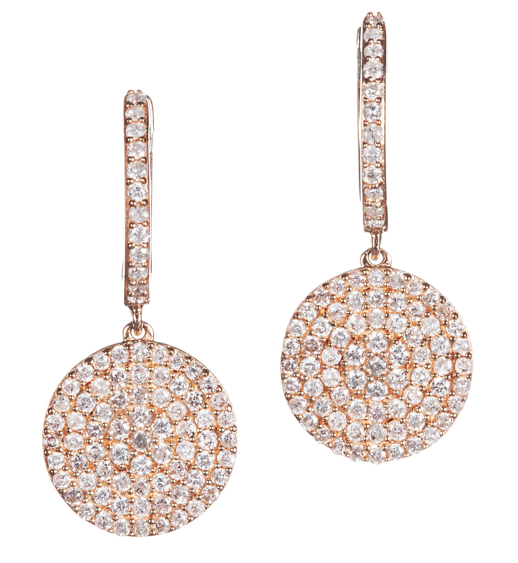 Graziela Gems diamond disc earrings | JCK on Your Market
