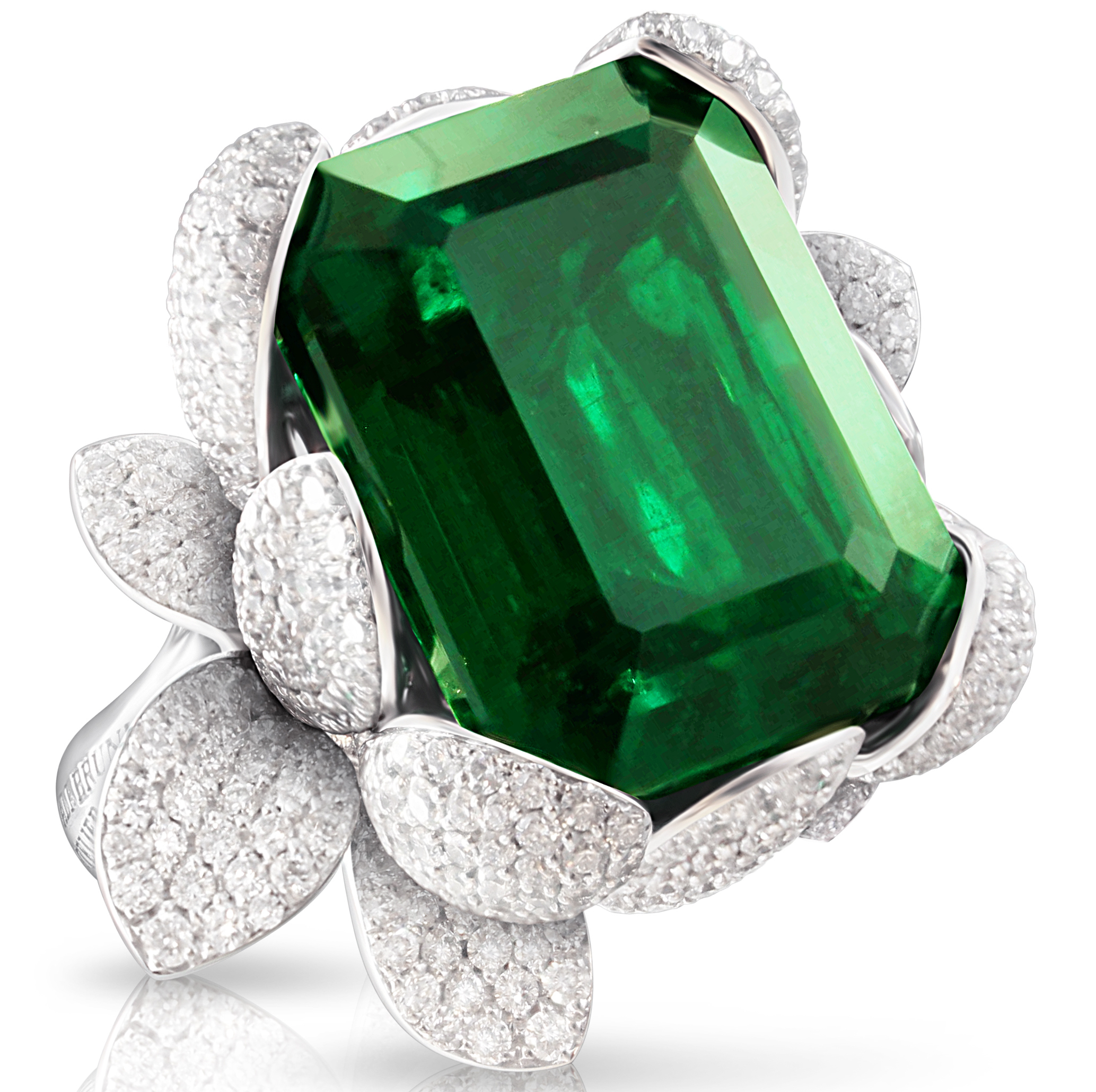 Pasquale Bruni emerald Secret Garden ring | JCK On Your Market