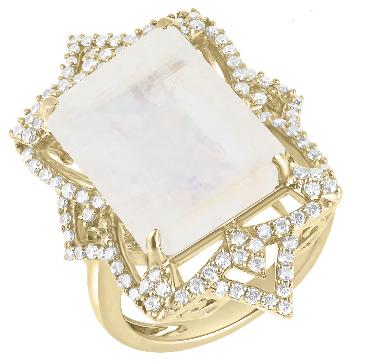 Arya Esha Galaxy Vira rainbow moonstone ring | JCK On Your Market