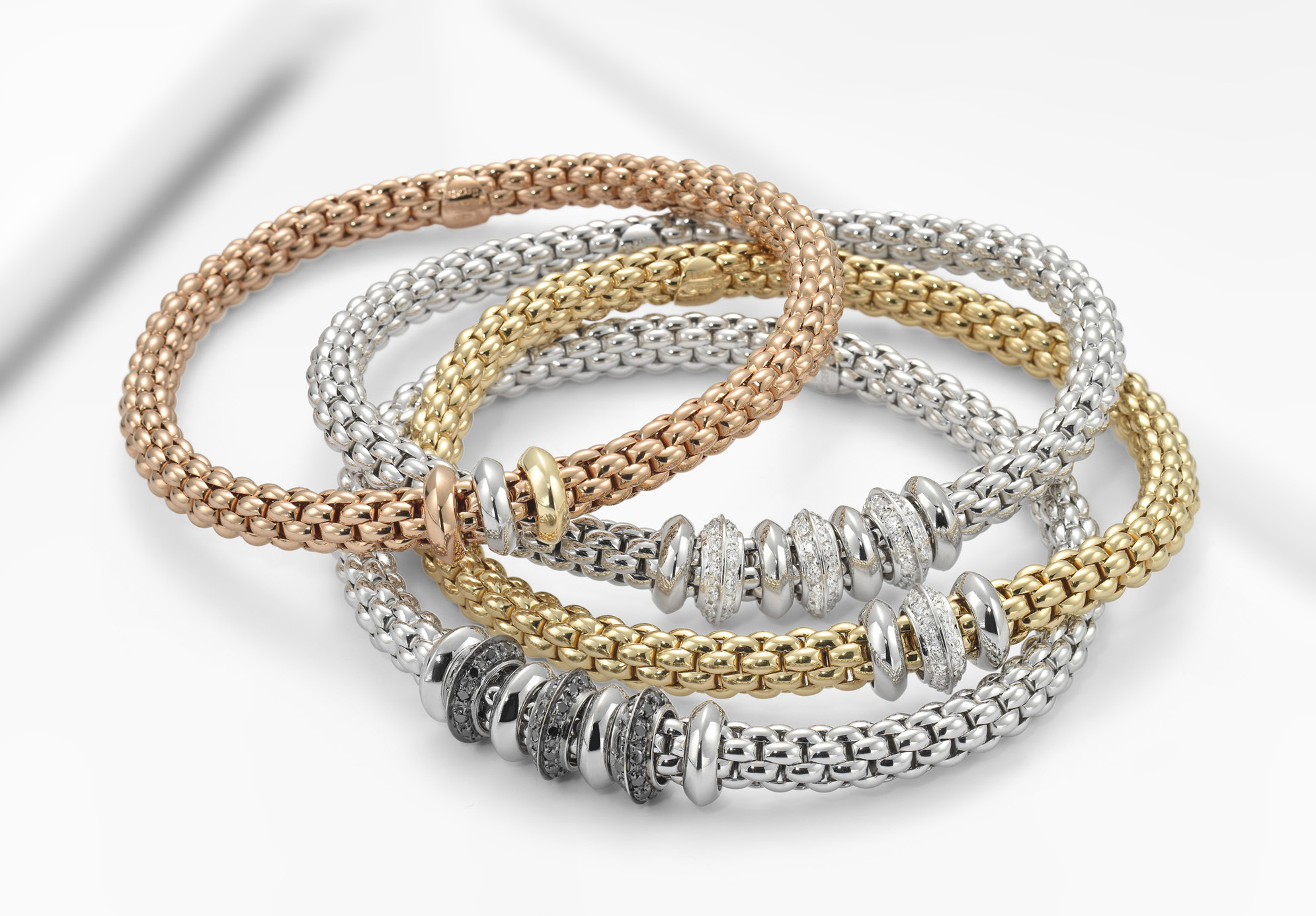 Fope Solo collection Flex'it bracelets with diamonds | JCK On Your Market