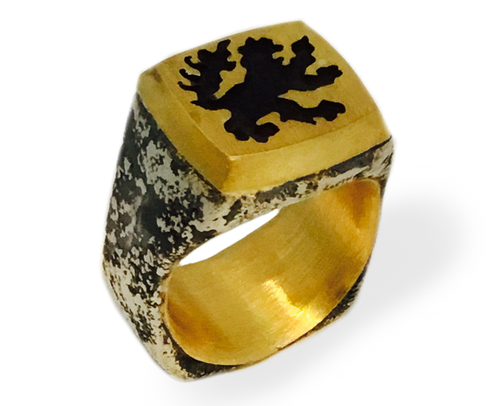 Michael Jensen Vetus collection lion signet ring | JCK On Your Market