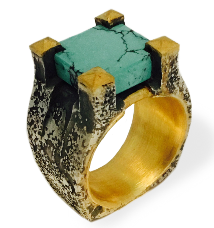Michael Jensen turquoise Tower ring | JCK On Your Market