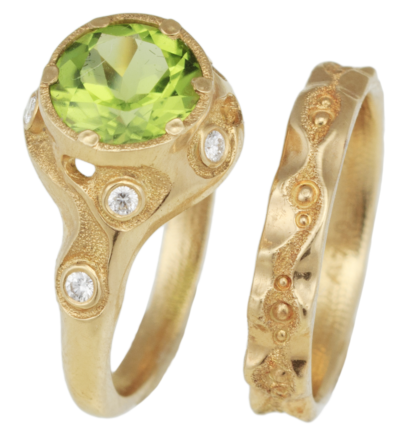 Audrius Krulis Swirling Brook engagement set | JCK On Your Market