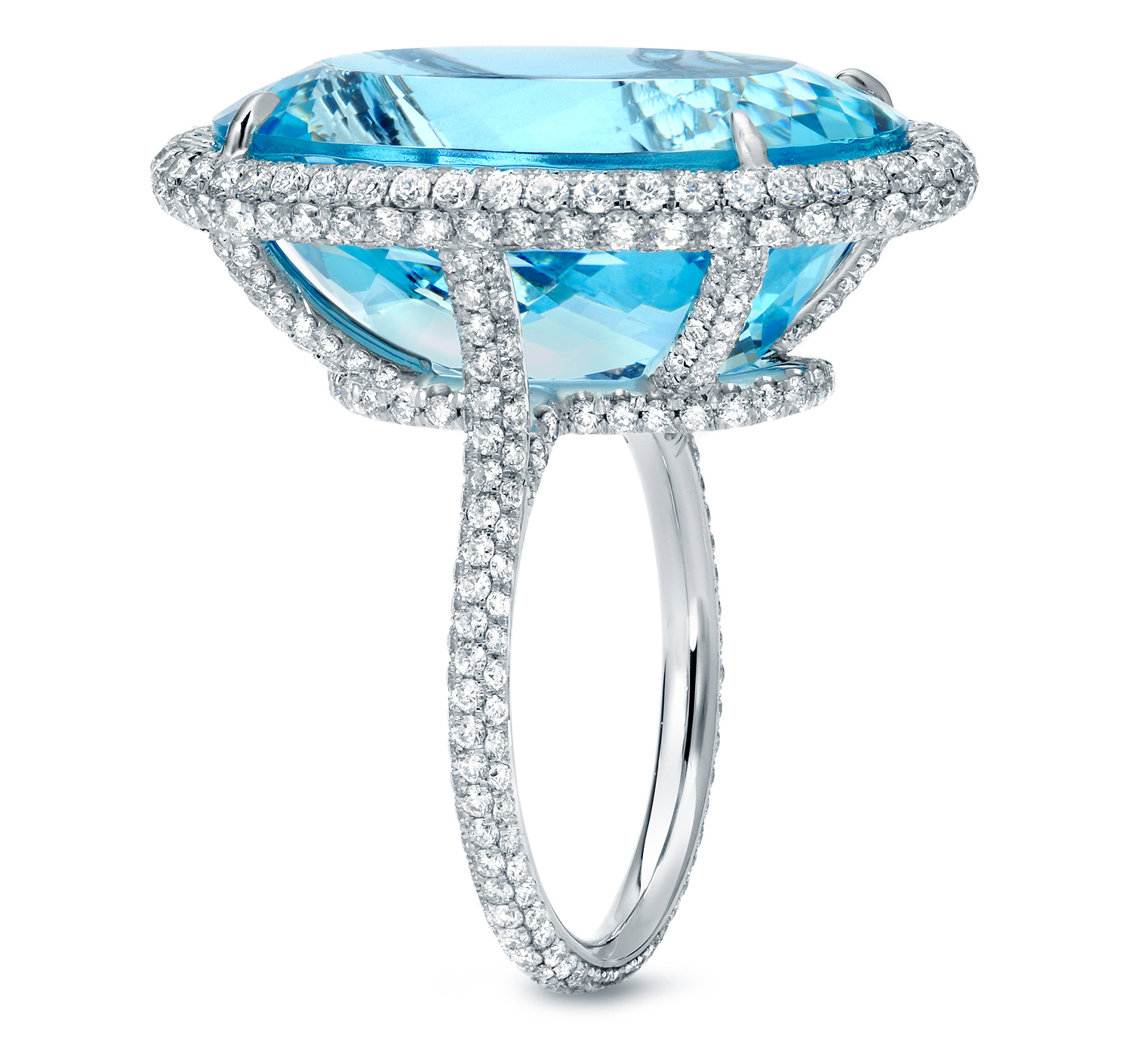 Tamir aquamarine and diamond cocktail ring | JCK On Your Market