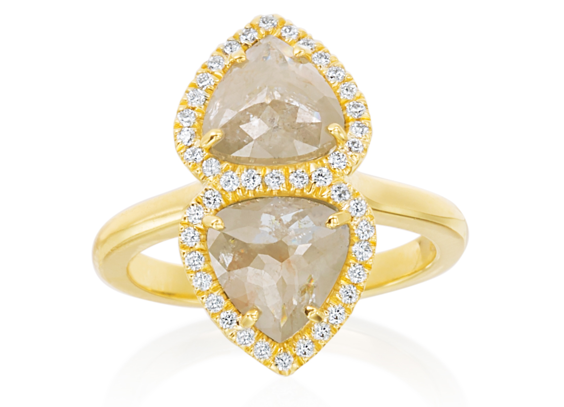 Lauren K Kiss silver diamond ring | JCK On Your Market