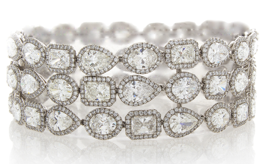 William Levine multi-row diamond bracelet | JCK On Your Market