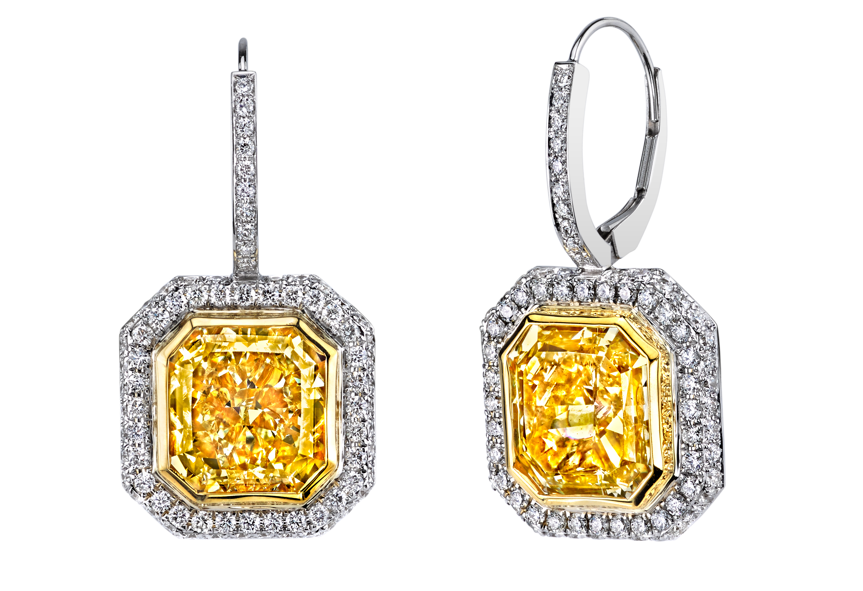 Joshua J yellow diamond drop earrings | JCK On Your Market