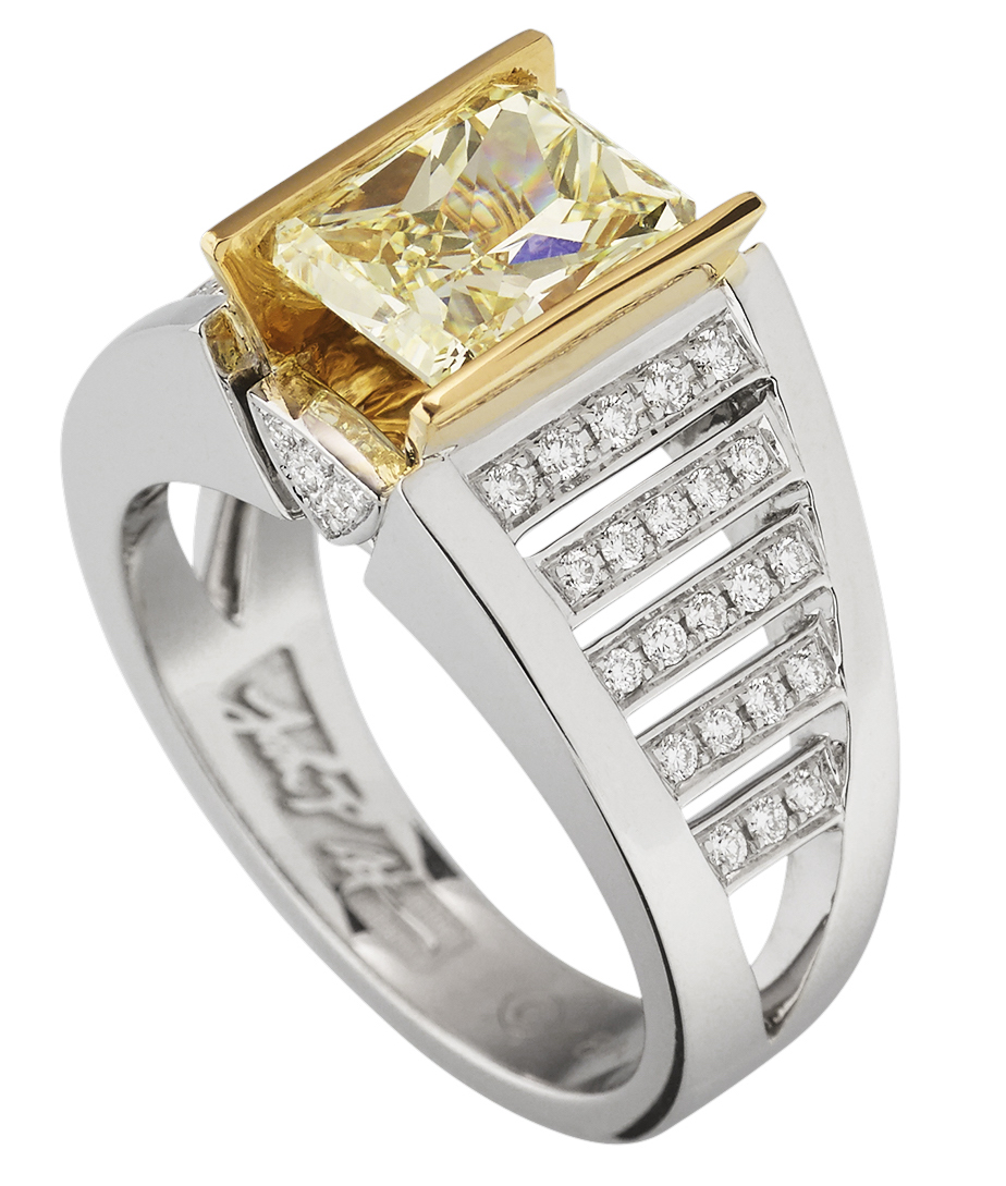 John Atencio Signature Legacy yellow diamond ring | JCK On Your Market
