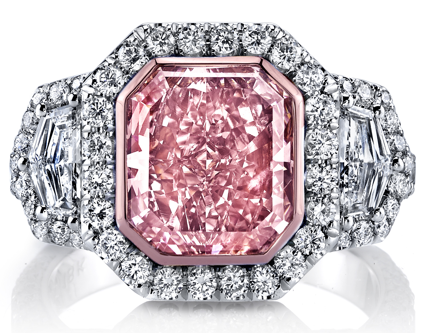 Joshua J radiant cut pink diamond ring | JCK On Your Market