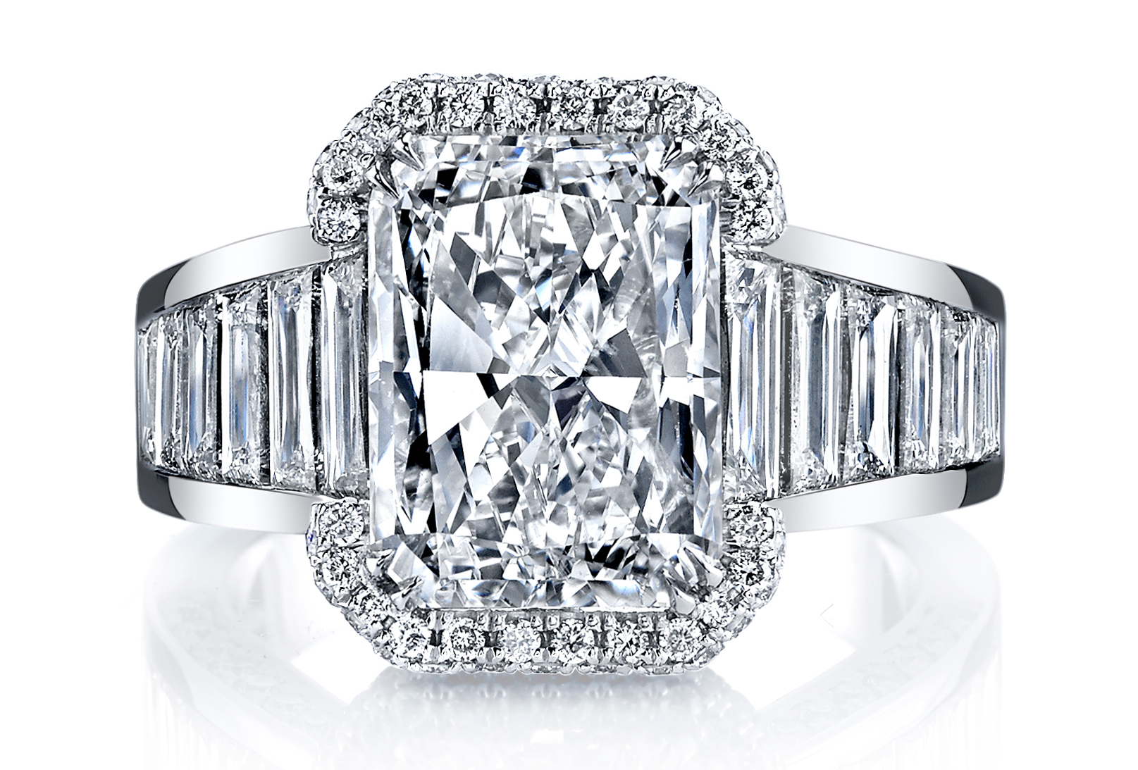 Joshua J emerald-cut diamond ring | JCK On Your Market