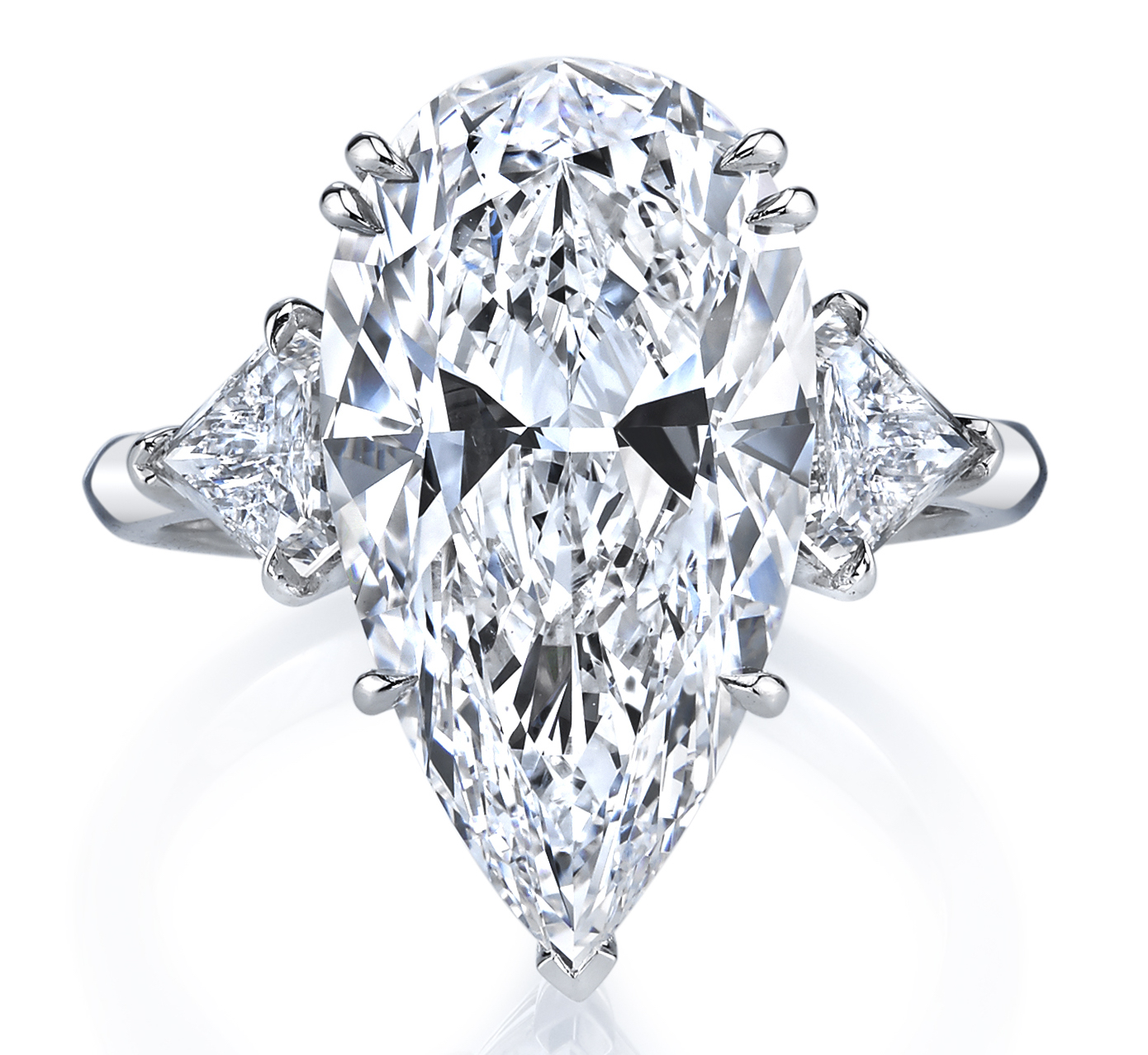 Joshua J pear-shape diamond engagement ring | JCK On Your Market