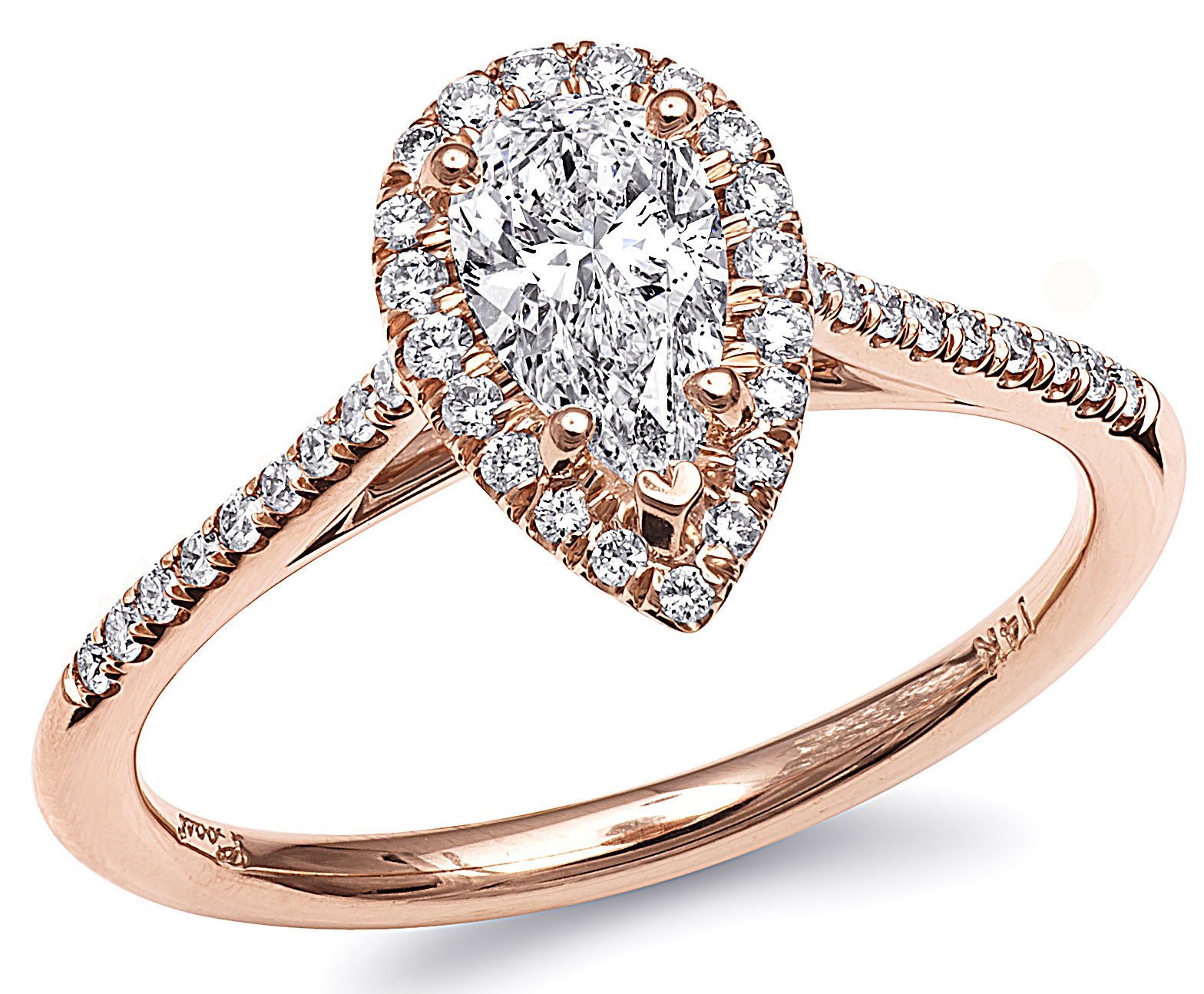 Coast Diamond rose gold pear engagement ring | JCK On Your Market