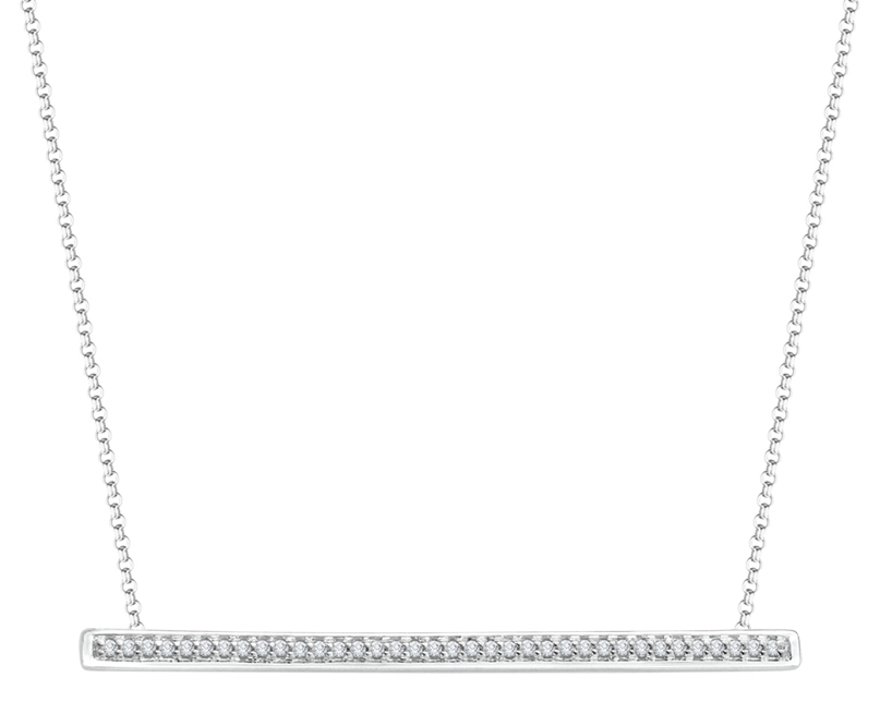 Carizza by Shah Luxury diamond bar necklace | JCK On Your Market
