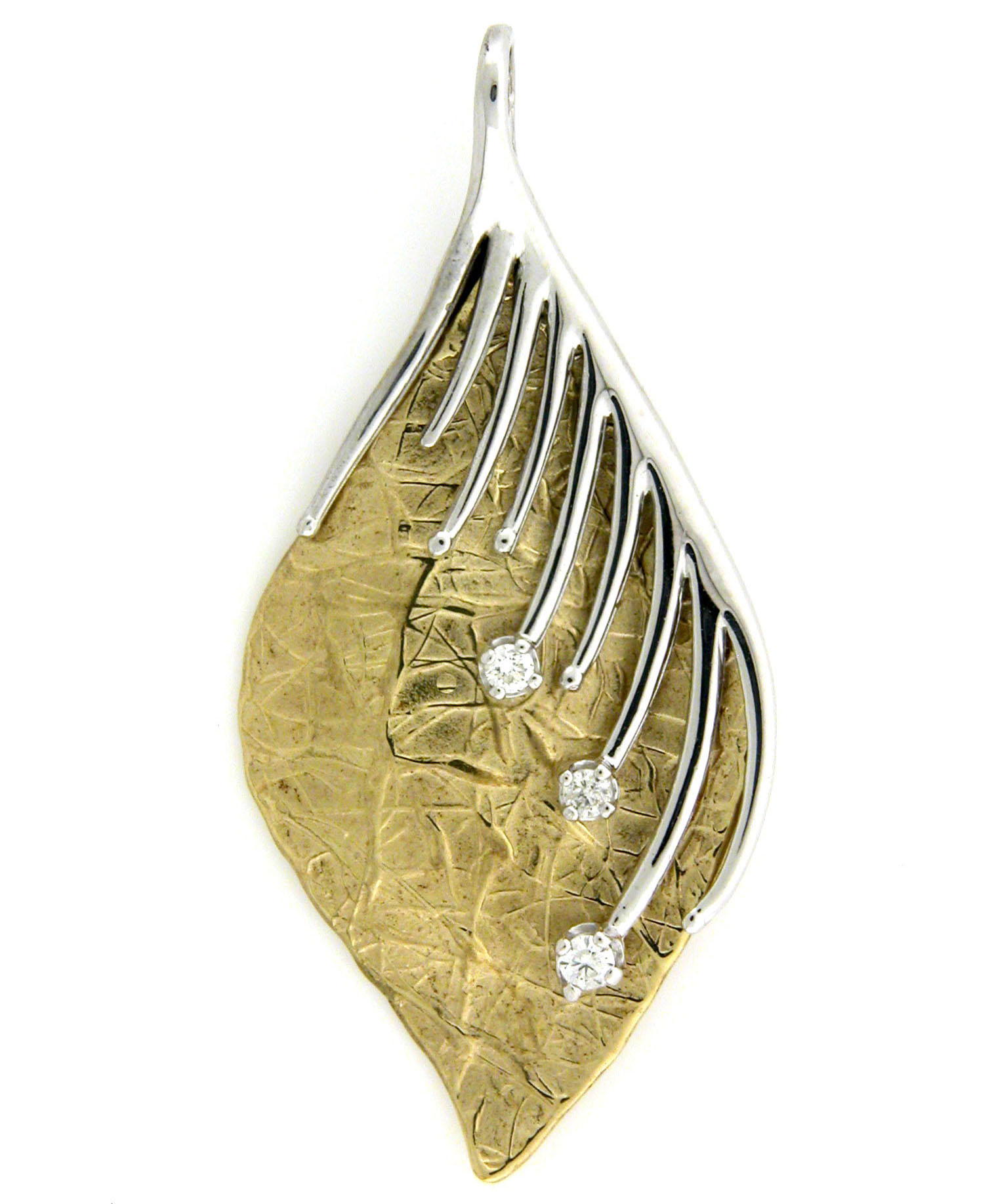 Leon Israel two-tone pendant | JCK On Your Market