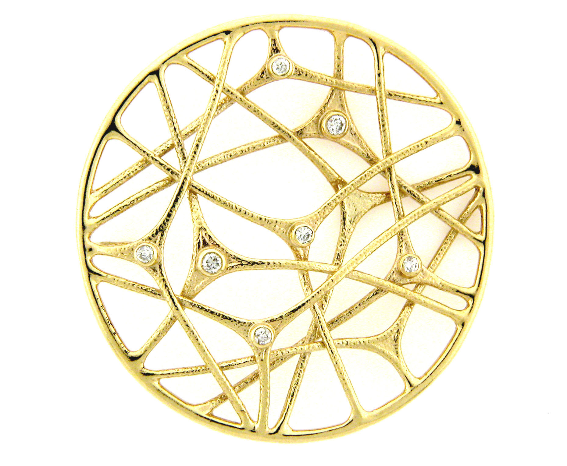 Leon Israel gold and diamond circle pendant | JCK On Your Market