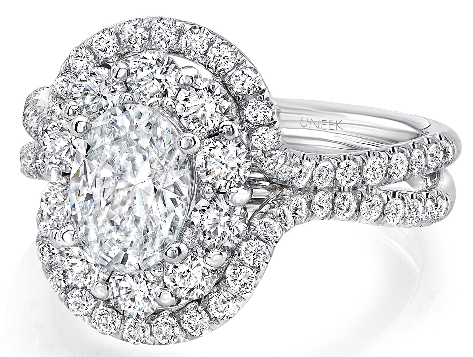 Uneek Silhouette oval diamond engagement ring | JCK On Your Market
