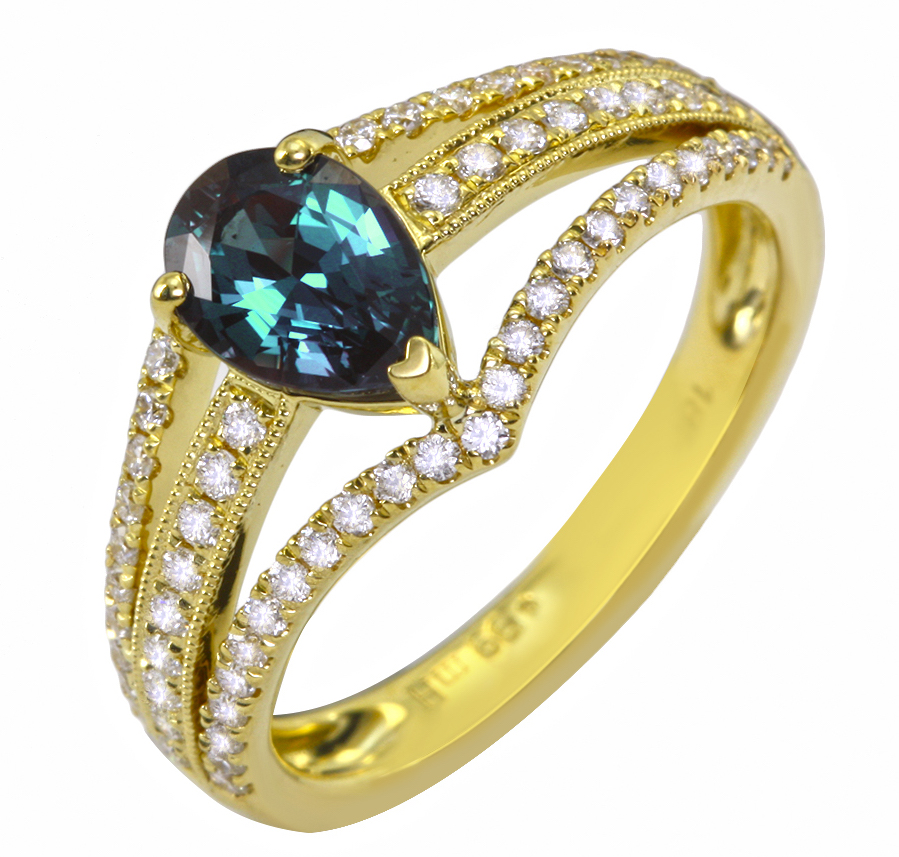 Mark Henry alexandrite pear ring | JCK On Your Market