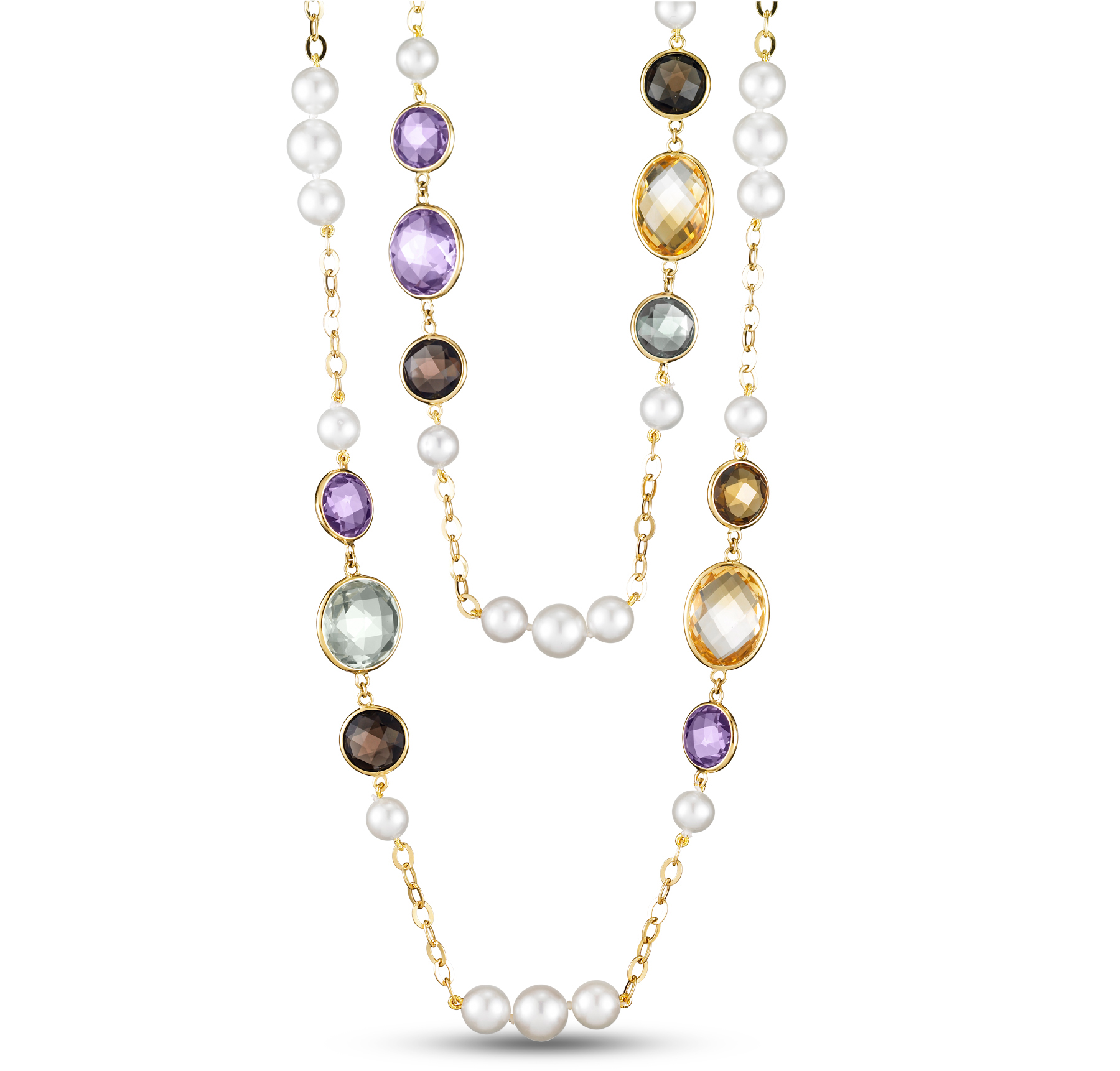 Mastoloni Prism pearl and gemstone necklace | JCK On Your Market