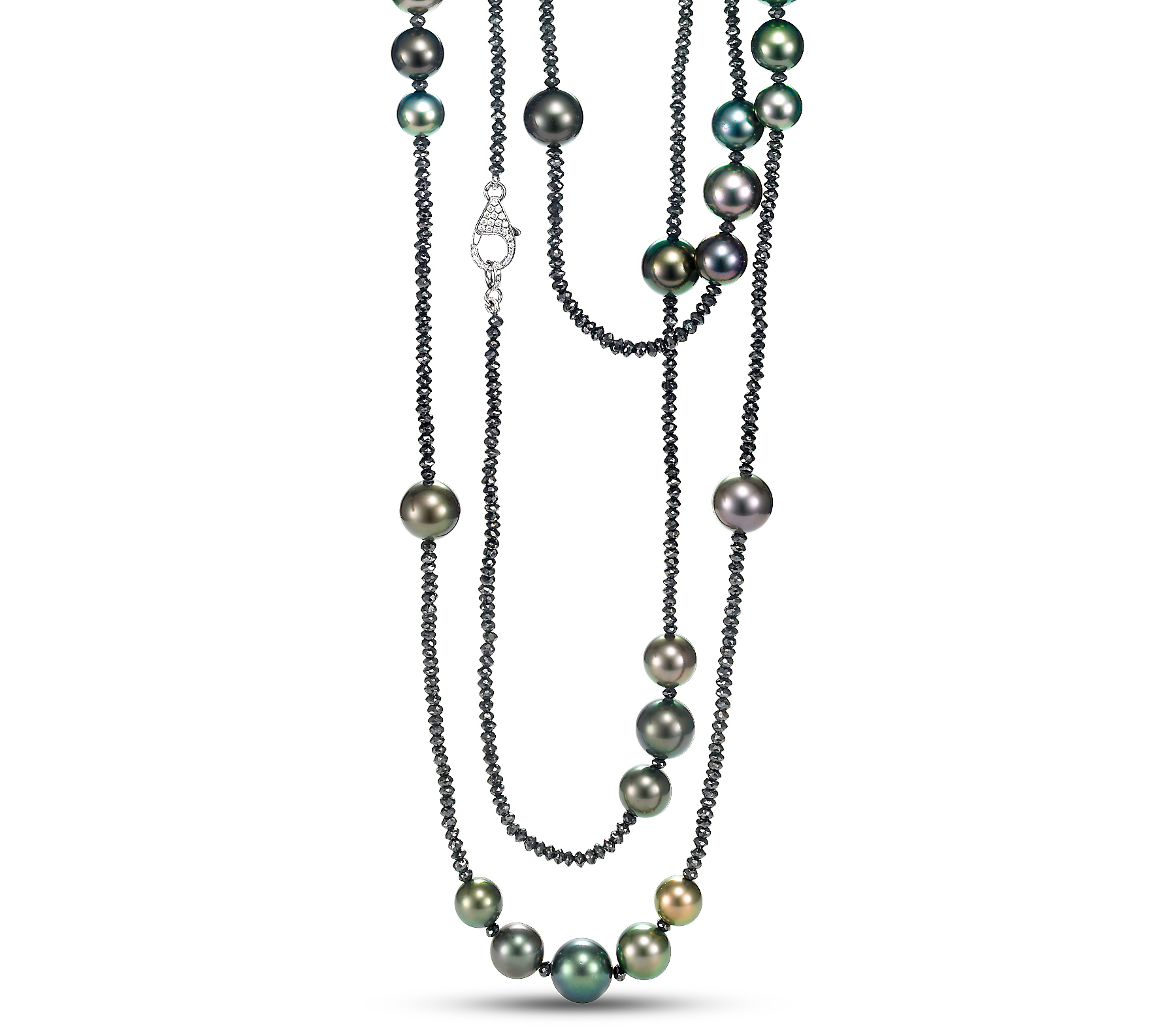 Mastoloni Dana Tahitian pearl and diamond necklace | JCK On Your Market
