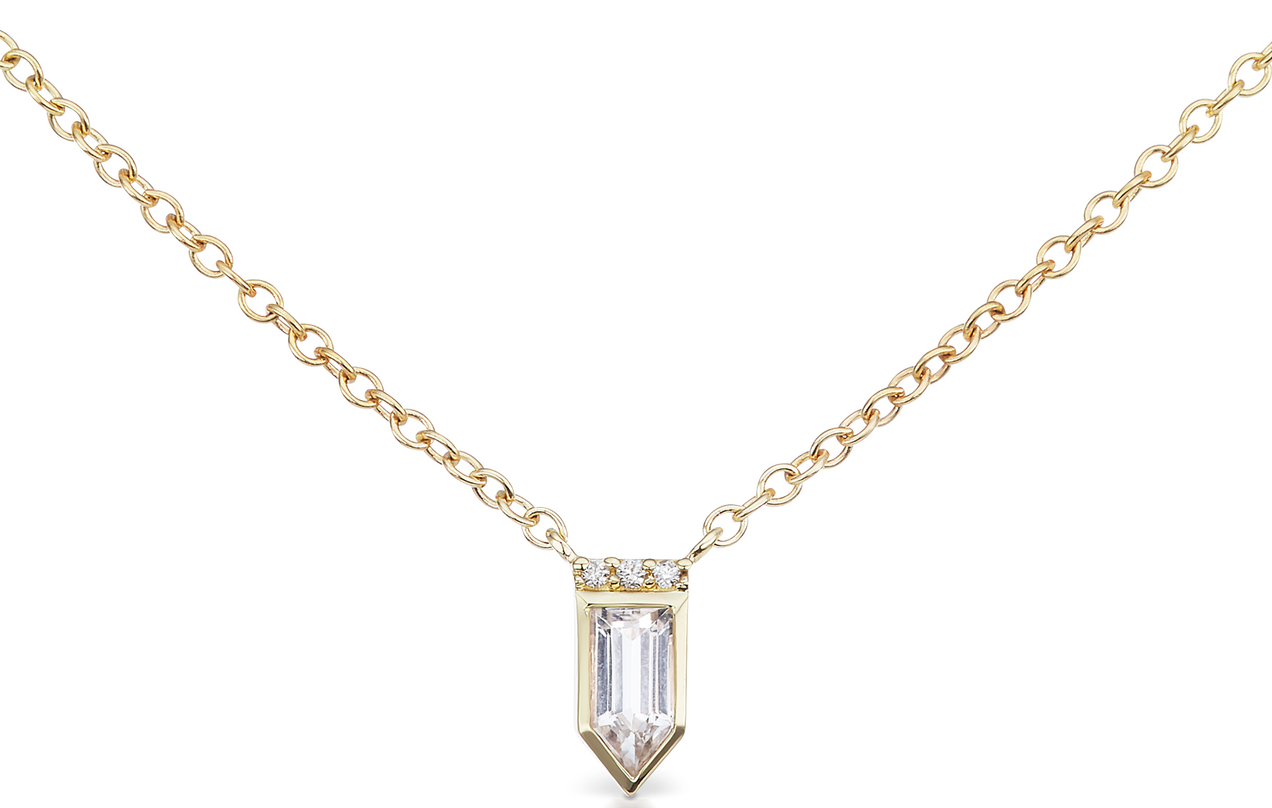 Jane Taylor Jewelry Cirque petite arrow necklace | JCK On Your Market
