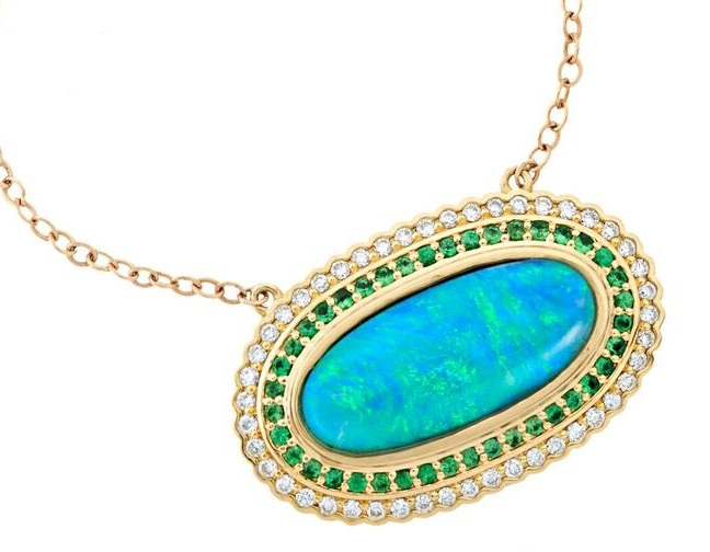 Terry Sider oval opal pendant | JCK On Your Market