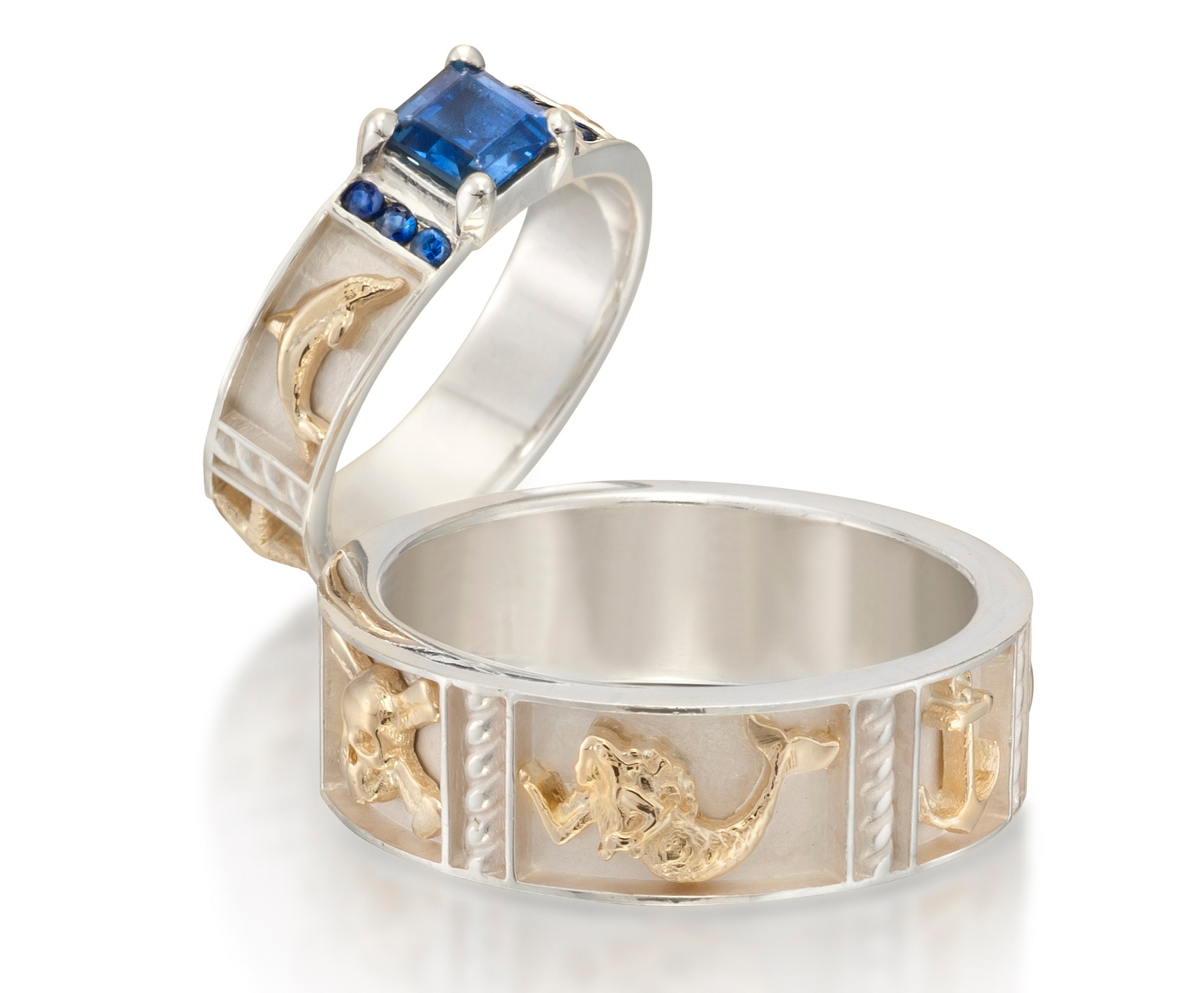 Alexis Barbeau Nautical Reef wedding set