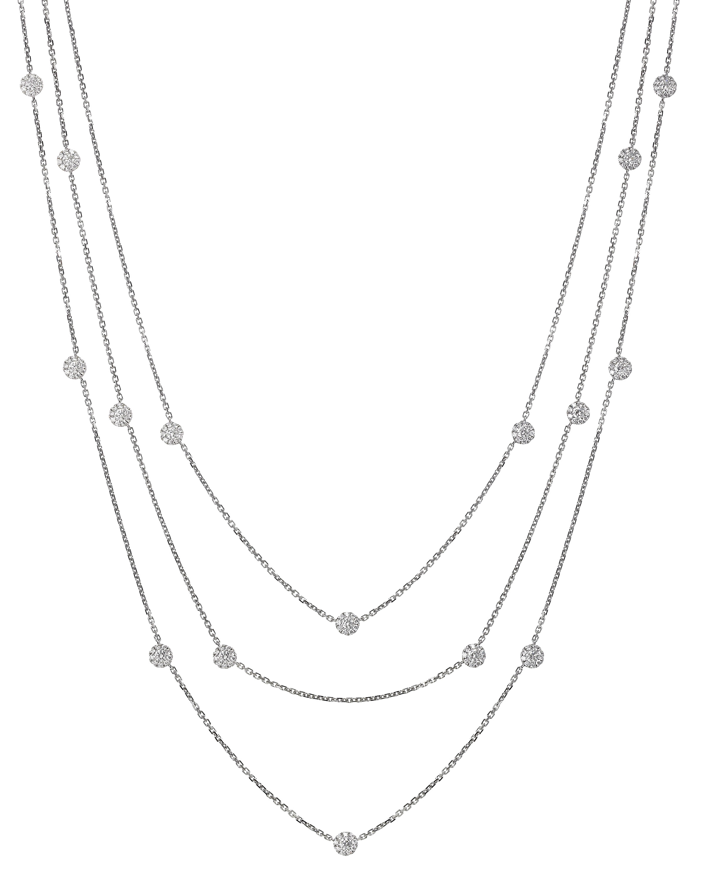 Jye Luxury Collection 3-strand diamond cluster necklace | JCK On Your Market
