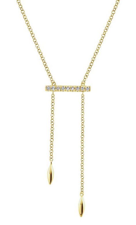 Gabriel and Co. Gaby collection dangling bar necklace | JCK On Your Market