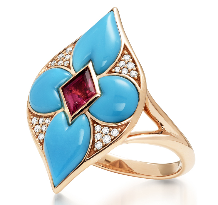 Kabana turquoise Lumieré collection ring | JCK On Your Market