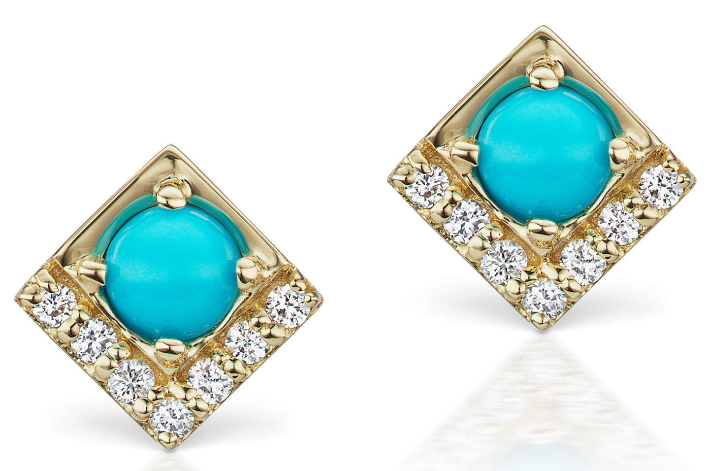 Jane Taylor Jewelry Cirque petite turquoise stud earrings | JCK On Your Market