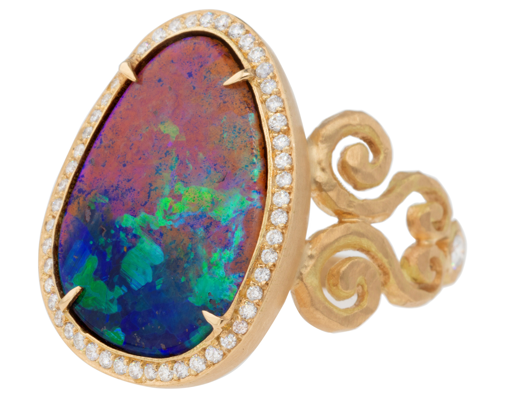 Pamela Froman Double Arabasque opal ring #BRITTSPICK | JCK On Your Market