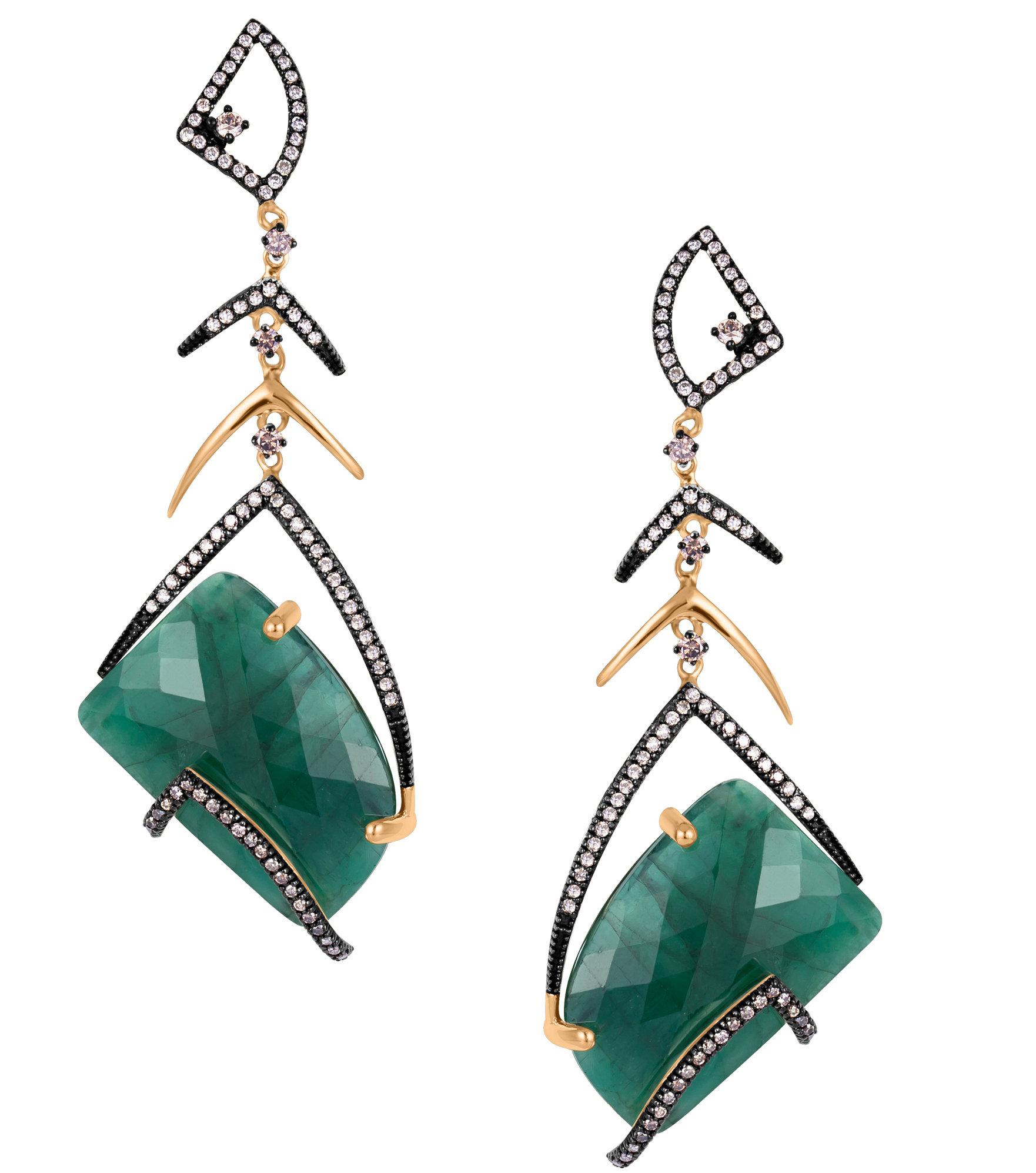 Arya Esha one-of-a-kind emerald earrings #BrittsPick | JCK On Your Market