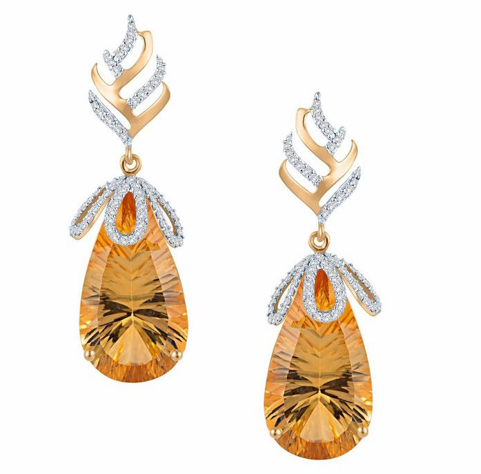 Arya Esha Galaxy collection citrine earrings | JCK On Your Market