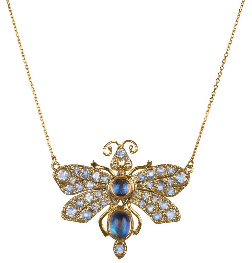 Blackbird and the Snow Luna moth necklace | JCK On Your Market