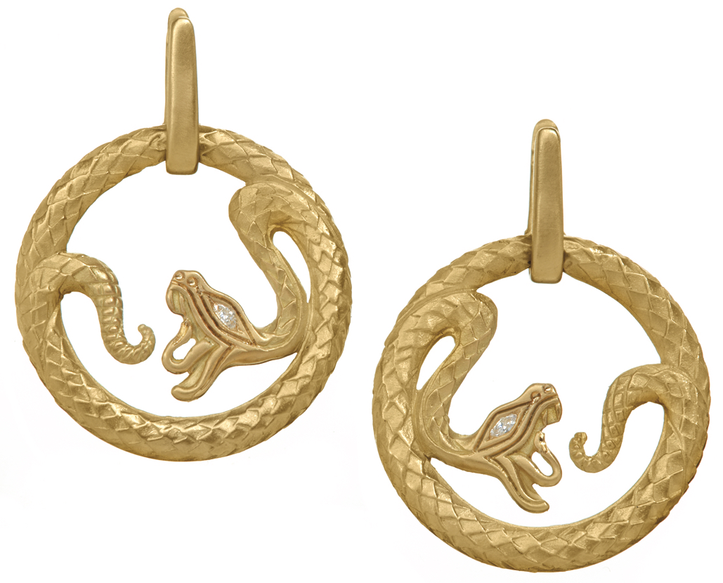 Wendy Brandes Queen of Scots snake earrings | JCK On Your Market