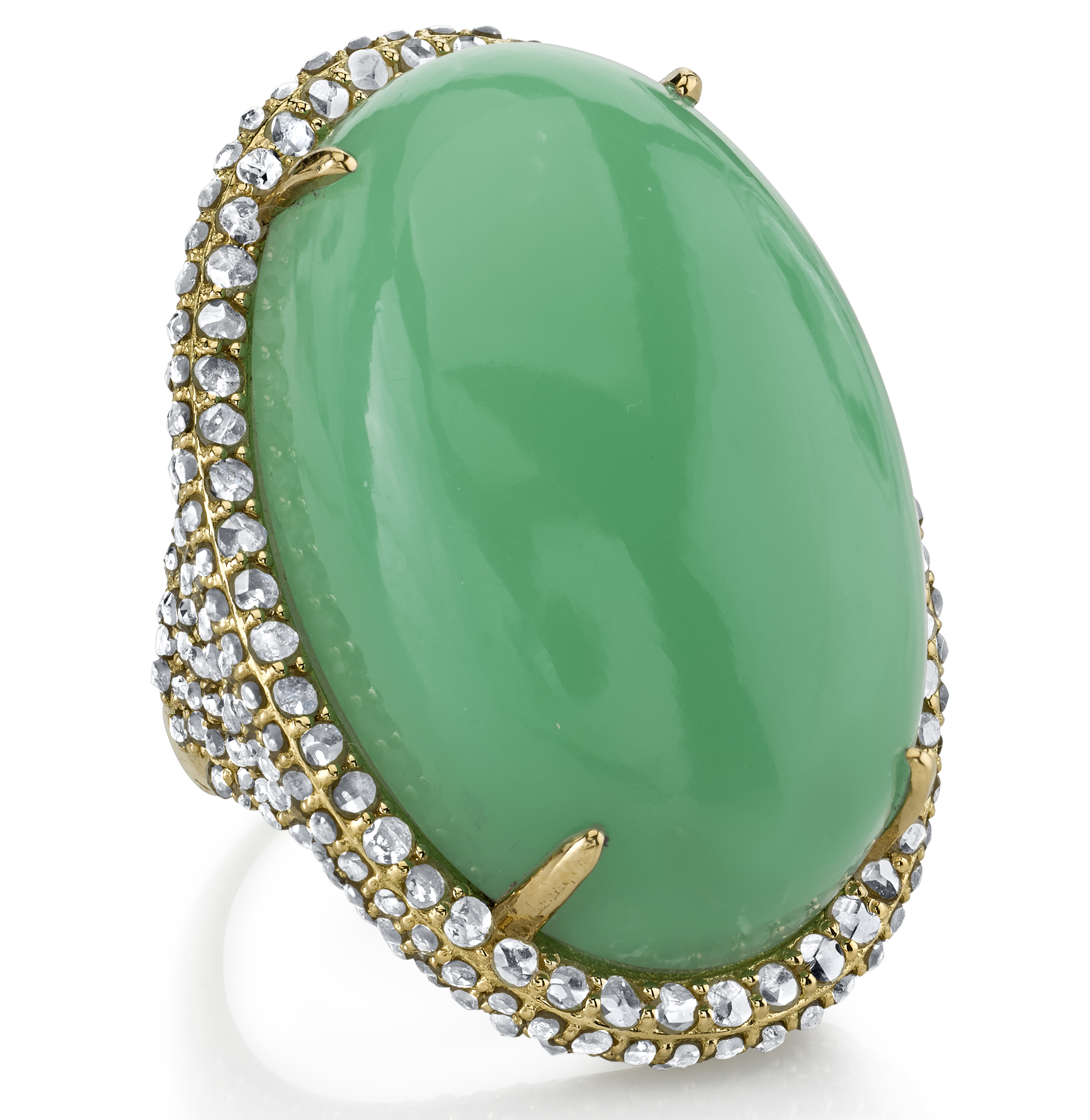 Bavna chrysoprase and diamond cocktail ring | JCK On Your Market