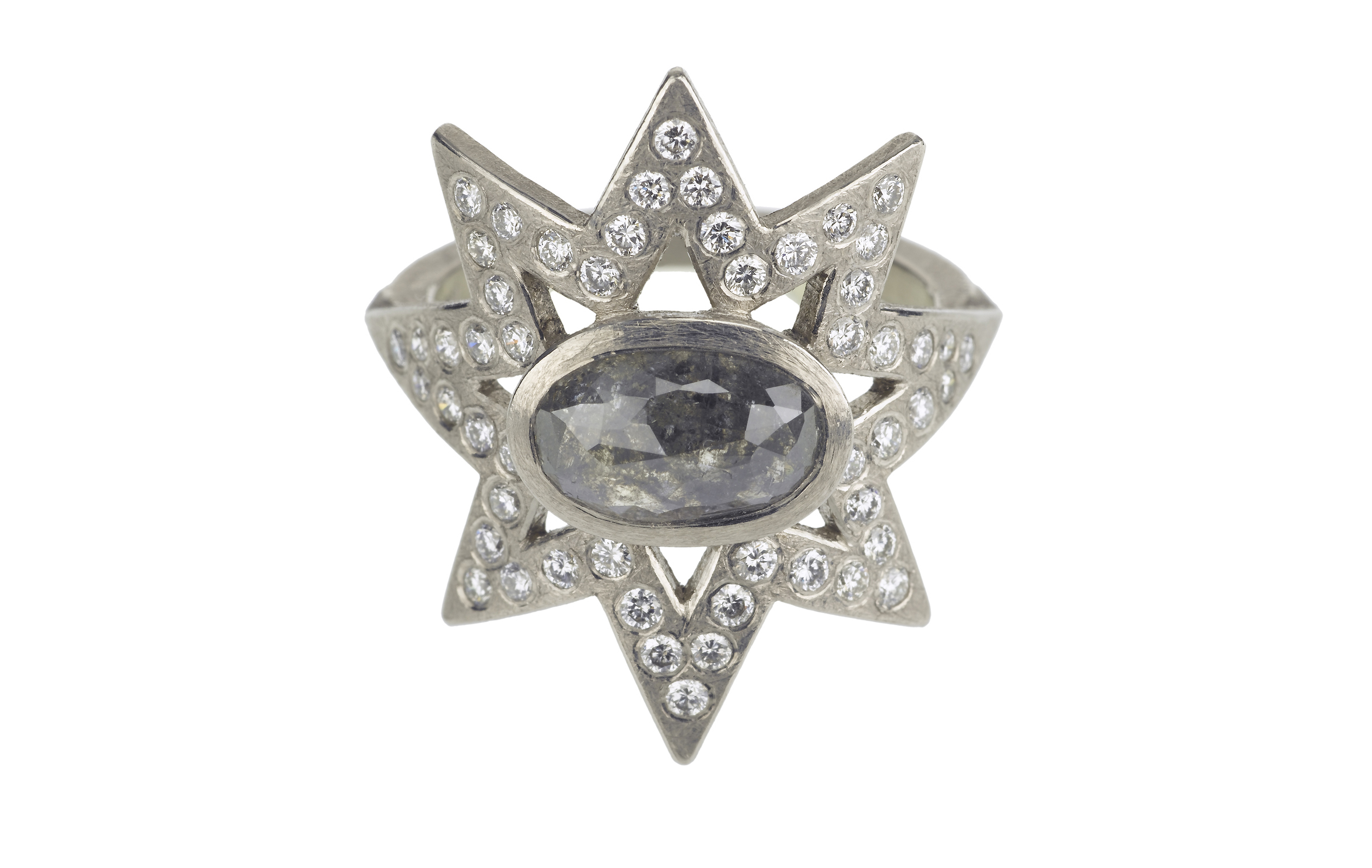 Todd Reed grey fancy diamond star ring | JCK On Your Market