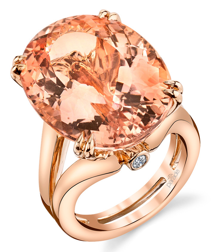Parade Design oval morganite cocktail ring | JCK On Your Market