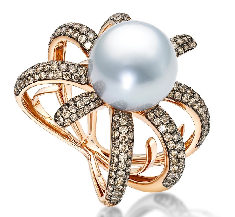 Belpearl South Sea pearl and diamond ring | JCK On Your Market