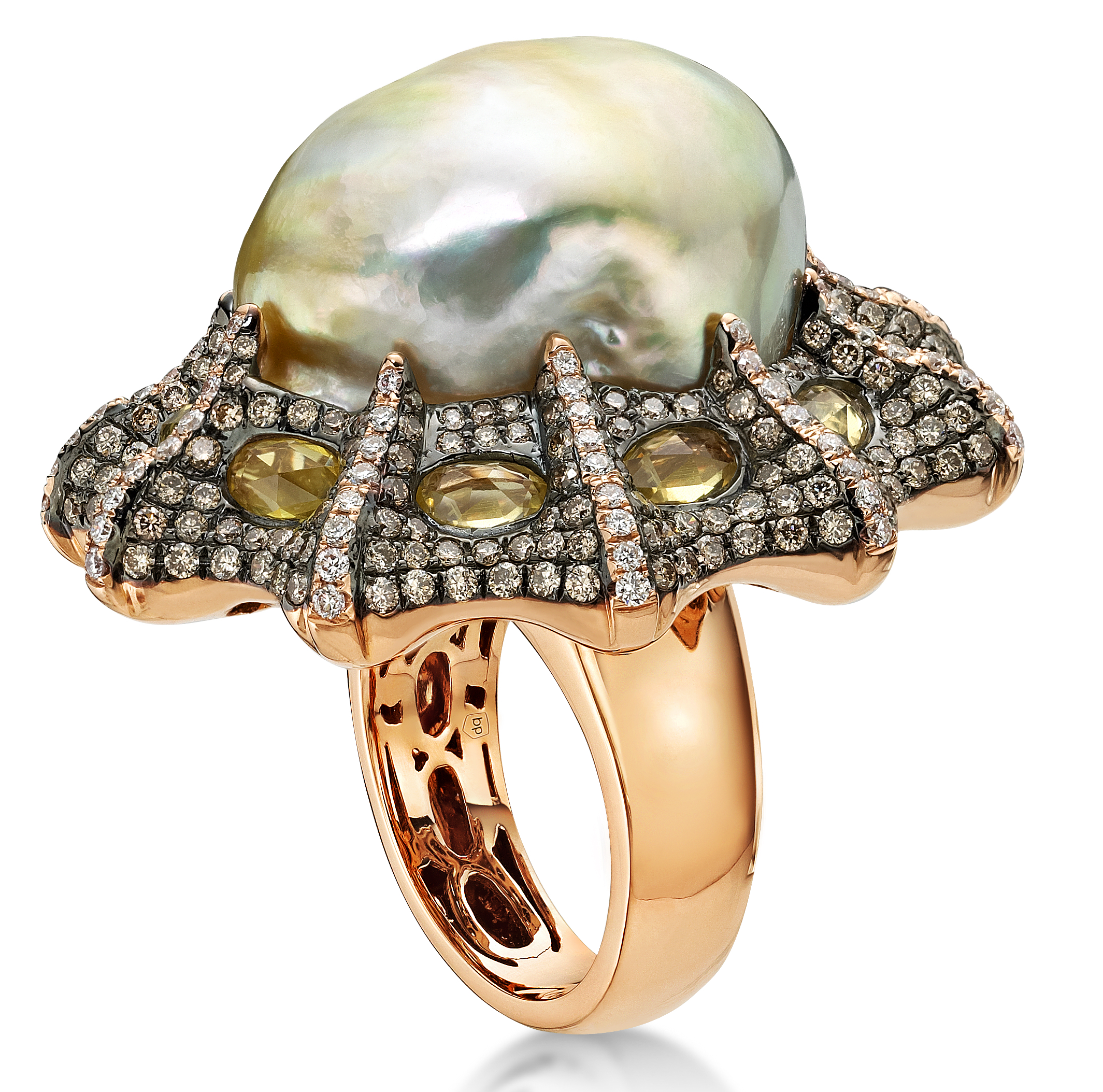 Belpearl baroque South Sea pearl ballerina ring | JCK On Your Market