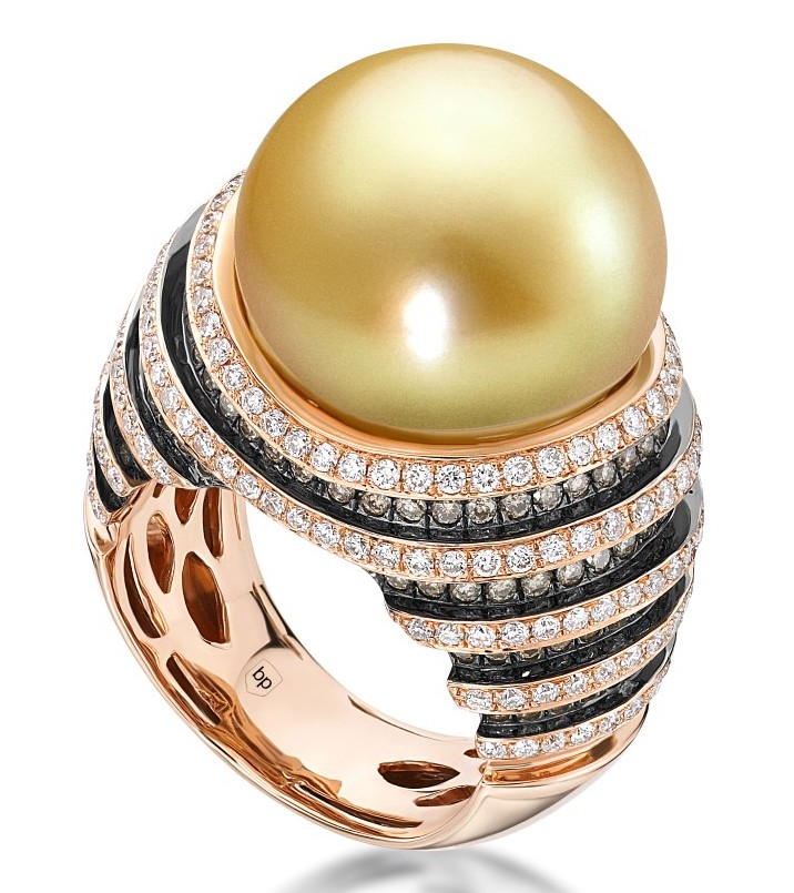 Belpearl golden South Sea pearl ring | JCK On Your Market