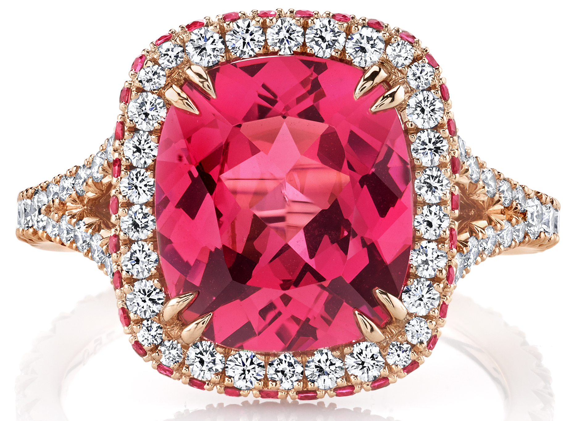 Omi Privé pink spinel Duet ring | JCK On Your Market